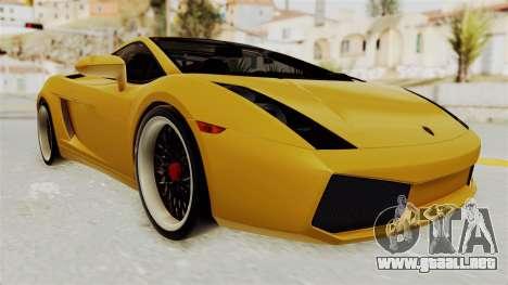 Lamborghini Gallardo 2005 para GTA San Andreas