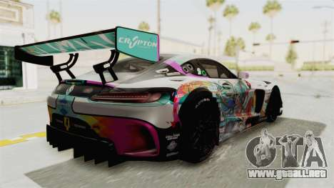 Mercedes-Benz SLS AMG GT3 2016 Goodsmile Racing para GTA San Andreas left