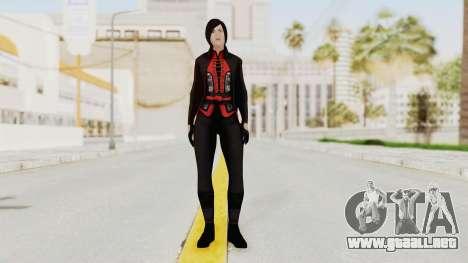 Batman Arkham Origins - Lady Shiva para GTA San Andreas segunda pantalla