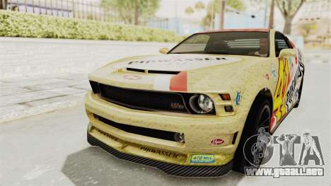 GTA 5 Vapid Dominator v2 IVF para GTA San Andreas interior