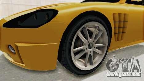 GTA 5 Ocelot F620 SA Lights para GTA San Andreas vista hacia atrás