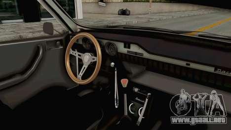 Dacia 1300 Stance Police para visión interna GTA San Andreas