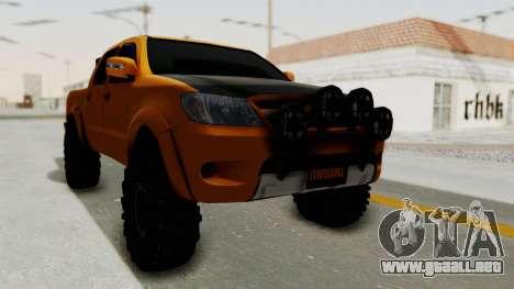 Toyota Hilux 2010 Off-Road Swag Edition para GTA San Andreas vista posterior izquierda