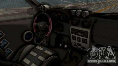 Dacia Logan Loco Tuning para visión interna GTA San Andreas