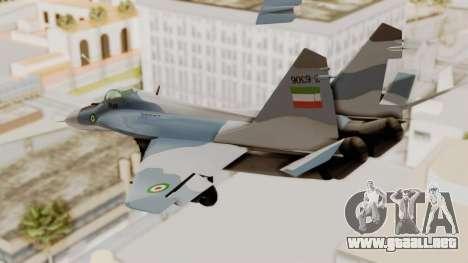 MIG-29A IRIAF para la visión correcta GTA San Andreas