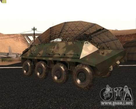 BTR 60 PA para GTA San Andreas vista hacia atrás