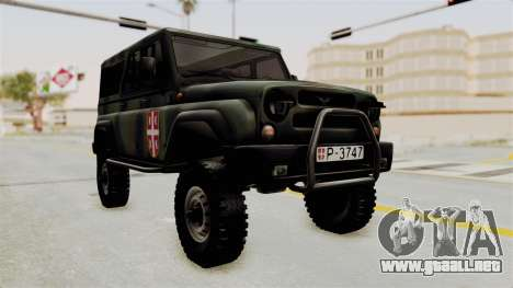 UAZ-3153 Cazador de las fuerzas Serbias para GTA San Andreas