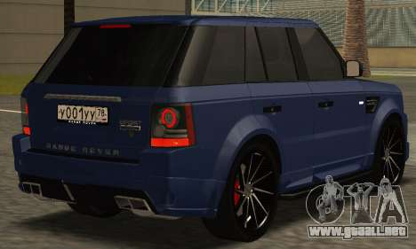 Range Rover Sport Tuning para GTA San Andreas left