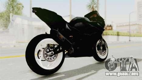 Kawasaki Ninja 250R Black Cobra RnB Anak Jalana para GTA San Andreas vista posterior izquierda