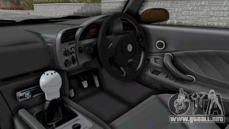 Honda S2000 S2K-AP1 para visión interna GTA San Andreas