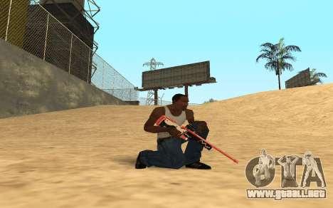Rifle Cyrex para GTA San Andreas segunda pantalla