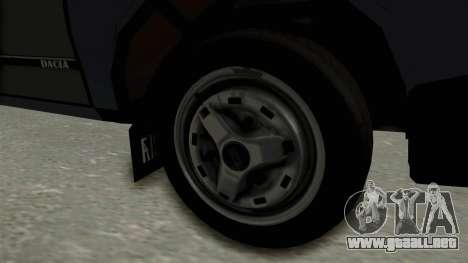 Dacia 1310 Funingi Taraneasca para GTA San Andreas vista hacia atrás