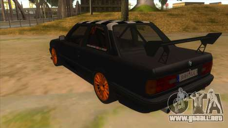 BMW 325i Turbo para GTA San Andreas vista posterior izquierda