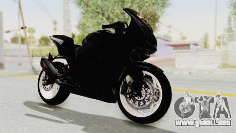 Kawasaki Ninja 250R Black Cobra RnB Anak Jalana para la visión correcta GTA San Andreas