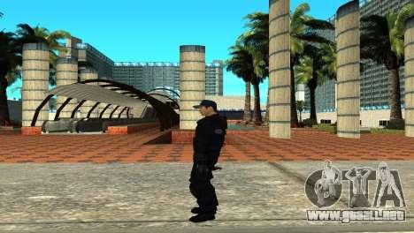 Police SWAT Skin for GTA San Andreas para GTA San Andreas sucesivamente de pantalla