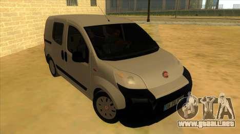 Fiat Fiorino Combi Mix para GTA San Andreas vista hacia atrás