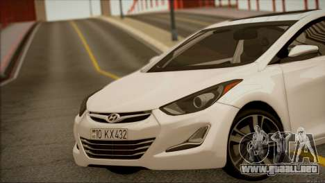 Hyundai ELANTRA 2015 STOCK para la visión correcta GTA San Andreas