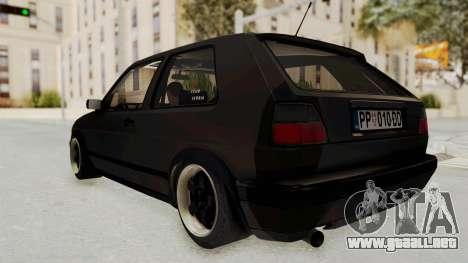 Volkswagen Golf 2 VR6 para la visión correcta GTA San Andreas