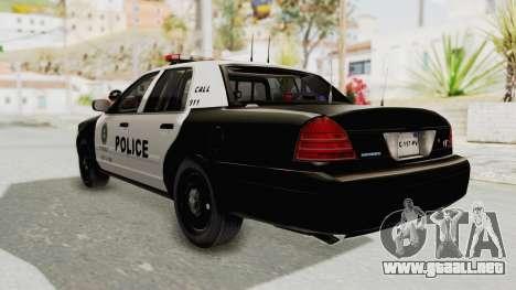 Ford Crown Victoria SFPD para GTA San Andreas left