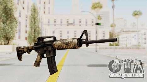 HD M4 v3 para GTA San Andreas segunda pantalla