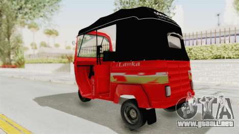 Sri Lanka Three Wheeler Taxi para GTA San Andreas left