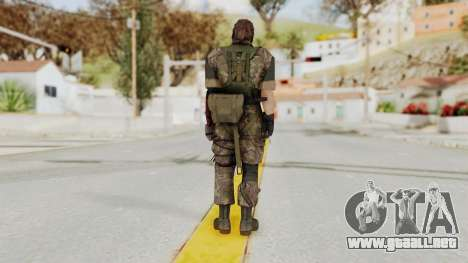 MGSV The Phantom Pain Venom Snake Woodland para GTA San Andreas tercera pantalla