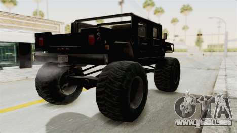 Hummer H1 Monster Truck TT para GTA San Andreas left