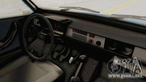 Dacia 1310 MLS 1988 Stock para visión interna GTA San Andreas