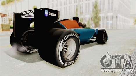 Rio Haryanto 88 F1 Manor Racing para GTA San Andreas left