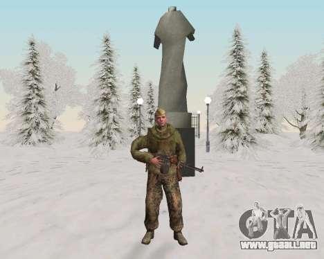 Pak combatientes del ejército rojo para GTA San Andreas octavo de pantalla