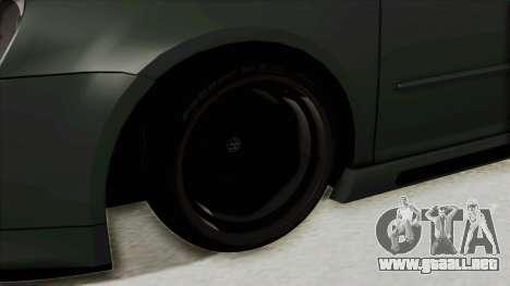 Volkswagen Golf MK5 JDM para GTA San Andreas vista hacia atrás
