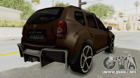 Dacia Duster 2010 Tuning para GTA San Andreas vista posterior izquierda