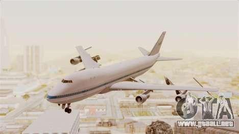 Boeing 747-123 NASA para GTA San Andreas vista posterior izquierda
