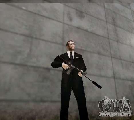 El silenciador del arma para GTA 4 adelante de pantalla