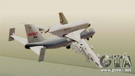 Boeing 747-123 Space Shuttle Carrier para la visión correcta GTA San Andreas