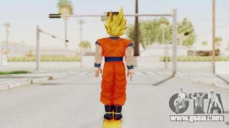Dragon Ball Xenoverse Goku SSJ1 para GTA San Andreas tercera pantalla
