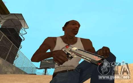 Desert Eagle Cyrex para GTA San Andreas tercera pantalla