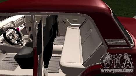 2107 JDM para GTA San Andreas vista hacia atrás