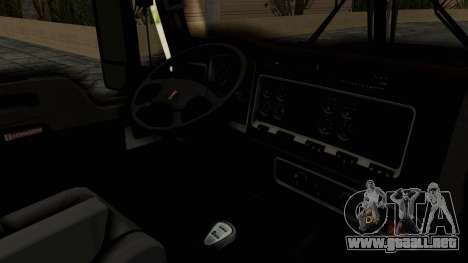 Kenworth T660 Sleeper para visión interna GTA San Andreas