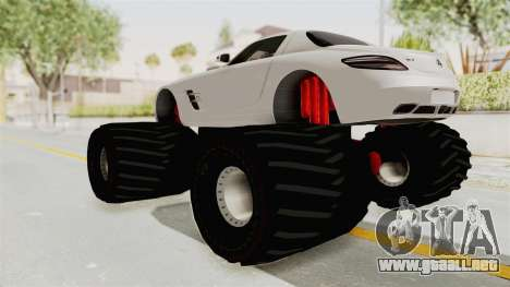 Mercedes-Benz SLS AMG 2010 Monster Truck para GTA San Andreas left