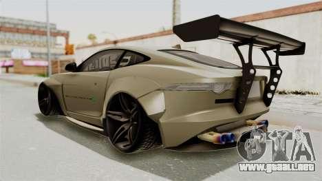 Jaguar F-Type L3D Store Edition para GTA San Andreas left
