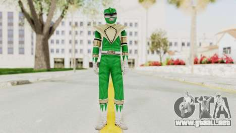 Mighty Morphin Power Rangers - Green para GTA San Andreas segunda pantalla