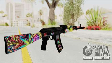 AK-47 Cannabis Camo para GTA San Andreas segunda pantalla