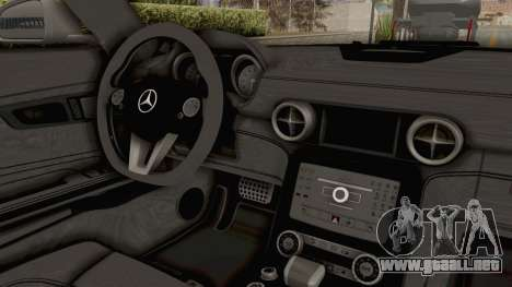 Mercedes-Benz SLS AMG 2010 Monster Truck para visión interna GTA San Andreas