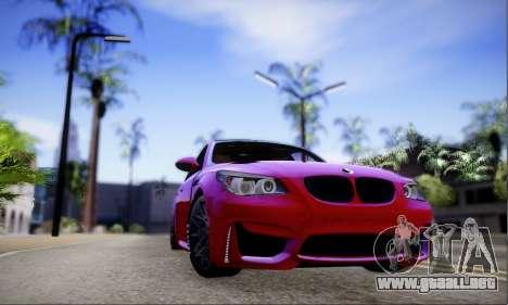 BMW M5 E60 Huracan para GTA San Andreas left