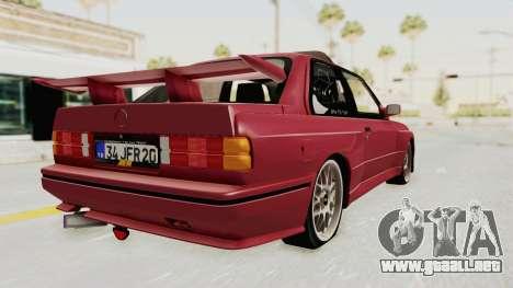 BMW M3 E30 1988 para GTA San Andreas left