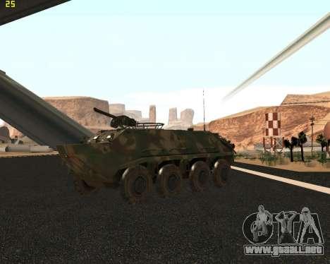 BTR 60 PA para visión interna GTA San Andreas
