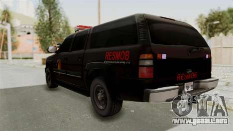 Chevrolet Suburban Indonesian Police RESMOB Unit para GTA San Andreas left