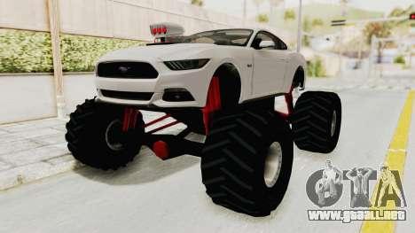 Ford Mustang GT 2015 Monster Truck para la visión correcta GTA San Andreas