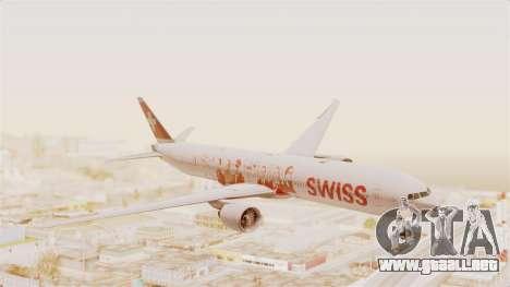 Boeing 777-300ER Faces of SWISS Livery para GTA San Andreas vista posterior izquierda